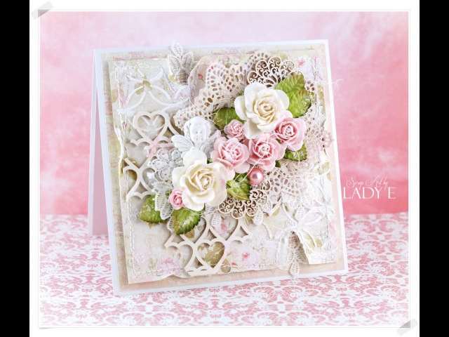 Romantic Shabby Chic Card Tutorial Wild Orchid Crafts * Emilia Sieradzan *