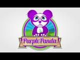 Logo Design Time Lapse - Purple Panda - Inkscape