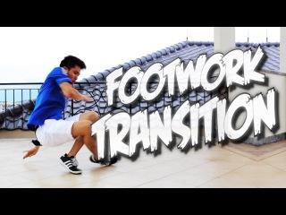 Bboy Tutorial I FOOTWORK TRANSITION I Part 1 I SImple & Useful Transition