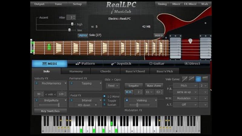 Musiclab Realguitar как сделать приглушку Fuzz звуков!