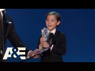 Jacob Tremblay Wins Best Young Actor/Actress | 2016 Critics Choice Awards | A&E