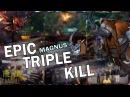DOTA 2 MAGNUS EPIC TRIPPLE KILL!