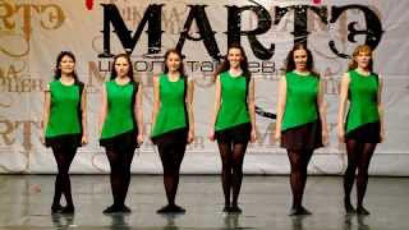 Народные танцы мира Ирландский танец Reel в школе танцев МАРТЭ 2013г