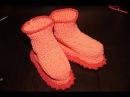 Вязание спицами для начинающих. Пинетки для детей до 1 года / Knitting for beginners. Booties
