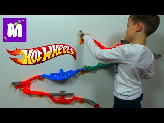 Хотвилс настенная трасса трек Горилла Разрушитель Hot Wheels Gorilla Takedown unboxing toy