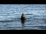 Пляж в Мисхор и Русалка с ребенком. Ялта, Крым. Набережная, пристань