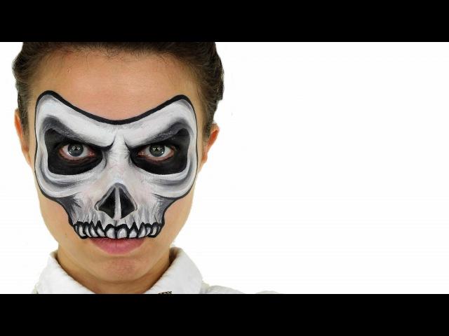 МАСТЕР-КЛАСС по аквагриму на Хэллоуин - Скелет