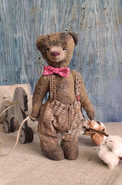 Такой теплый винтажный мишка Марк. ищет маму… (3 фото) - картинка