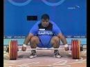 25.08.2004. Летние Олимпийские игры в Афинах. Тяжёлая атлетика. Мужчины. Категория свыше 105 кг