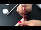 дизайн ногтей гель-лак shellac бархатный песок вензеля E.mi