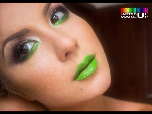 Экспресс макияж. Классический вечерний макияж с яркими акцентами. Креативная тр...