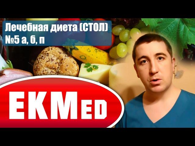 Лечебная диета (СТОЛ) №5 а, б, п (Дополнение к диете №5)