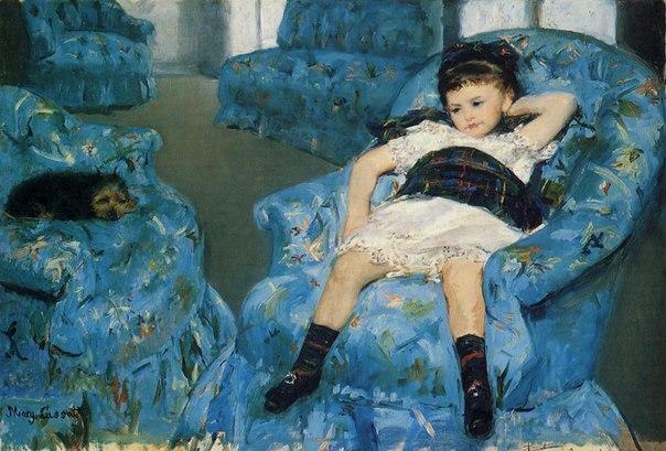 Мэри Кассат «Девочка в синем кресле», 1878