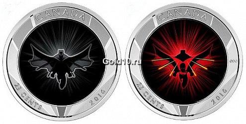 монета 25 центов