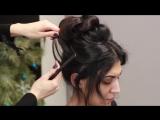 Свадебная высокая прическа на длинные и средние волосы Wedding hairstyle