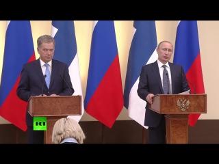Пресс-конференция Владимира Путина и президента Финляндии по итогам переговоров