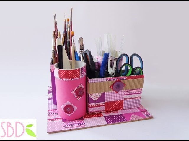 Tutorial: Porta oggetti con Riciclo - Objects holder with recycle