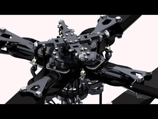 Принцип работы автомата перекоса вертолета соосной схемы
