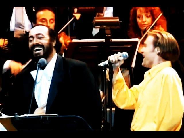 O Sole Mio Luciano Pavarotti e Bryan Adams legendado PT BR