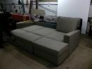 угловой диван. каркас сделан из фанеры и  бруса.подушки из монолитного полеуретана .чехлы на змейки сьемные. три короба для бел