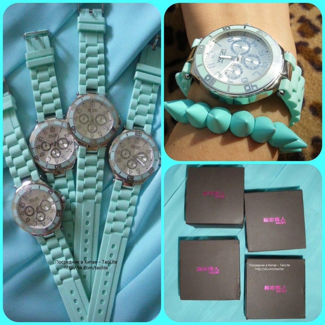 Часы Geneva мятного цвета на силиконовом ремешке- купить