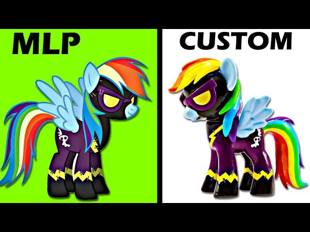 CUSTOM My Little Pony RAINBOW DASH Shadowbolt Tutorial MLP Toy Figure | SweetTreatsPonies