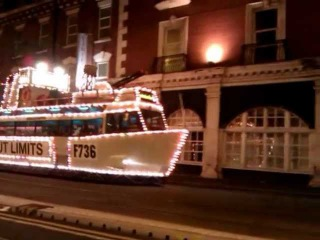 Cruise ship tram Blackpool England