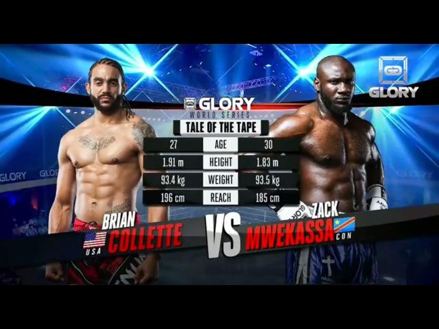 GLORY 18 - Zack Mwekassa vs. Brian Collette (Full Video)