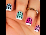Nailss on Instagram French polka dot nails by @Cute.Passion
