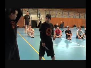 Silat Suffian Bela Diri - Walking Cane vs Knife Attack