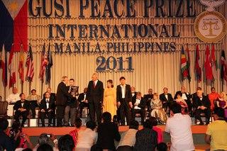 Церемония награждения В.Н. Мегре
