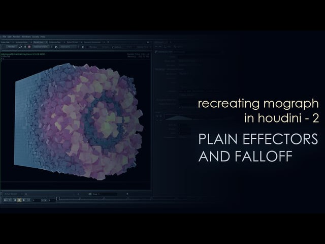 Recreating Mograph in Houdini - 2 - Plain Effector and Falloff