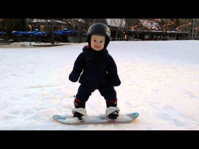 1 year old snowboarder/skateboarder