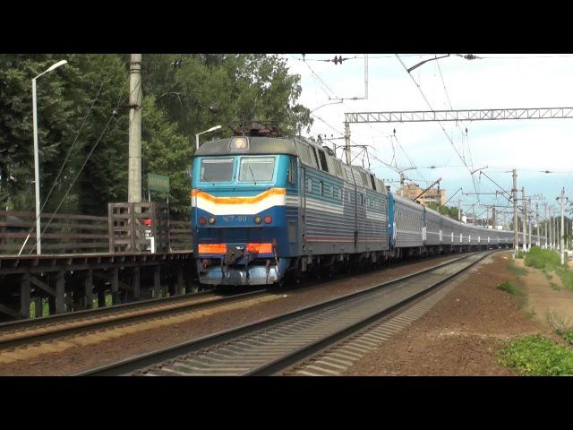 Электровоз ЧС7-011 с поездом № 095 Москва - Брест