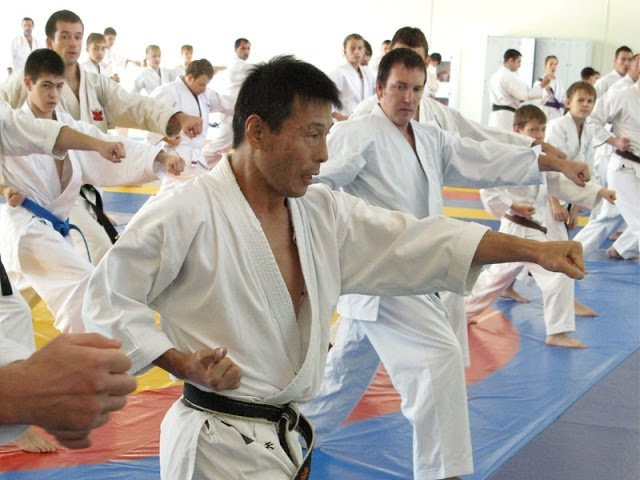 Compression-Expansion and Jiyu Ippon Kumite by Mikio Yahara. Seminar in Moscow 2009 (part 3)