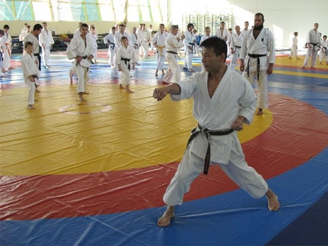 Fantastic Spinning Uraken Uchi Backfist by Mikio Yahara Seminar in Moscow 2009 part 2