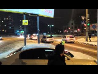 Покатушки под дорогам в санках на тросу (26.11.2015)