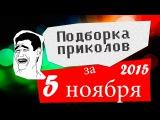 Подборка приколов за 5 ноября 2015 (ежедневная лучшая подборка)