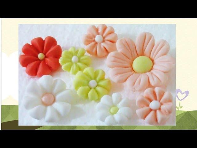 Artesanía en Azúcar flores fáciles de fondant paso a paso