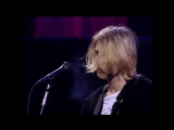 Kurt Cobain says :  Then why are you here? ( LIVE AND LOUD)