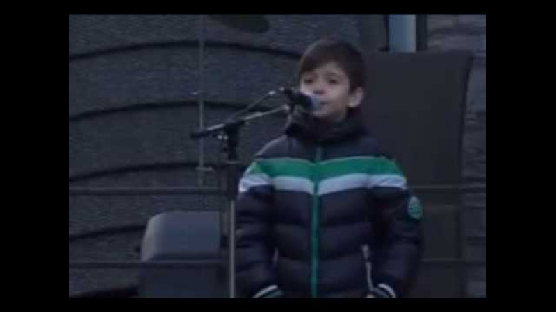 БОЖЕ,хвала ти што сам СРБИН (дечак покидо говором) БУДУЩИЙ ПАТРИАРХ СЕРБСКИЙ, не меньше