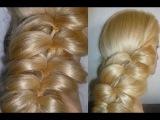 Причёски для средних и длинных волос. Быстрая причёска БЕЗ ПЛЕТЕНИЯ с помощью резинок