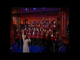 Odetta and Boys Choir of Harlem on first Letterman show after 911