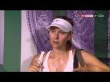 Maria Sharapovas interview after Wimbledon R1 2015