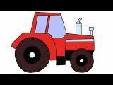 Тракторы для детей. Строительная техника мультик. Смотреть мультфильм про трактор для малышей
