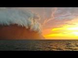 Необычная пыльная буря в Австралии