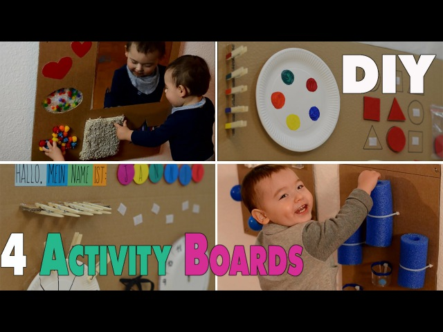 4 DIY Activity Boards for babys and toddlers mamiblock