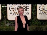 2016 Golden Globes- Kirsten Dunst DEEP CLEAVAGE Show