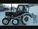 Самодельный трактор-снегоход -- чудо техники и проходимости!