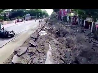 Gas Explosion. Kaohsiung, Taiwan 08012014 взрыв газа в Китае (группа огого видео)